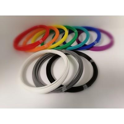 Набор PLA пластика для 3d ручки (10 цветов по 10м)