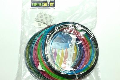 Набор PLA пластика для 3d ручки (20 цветов по 10м)